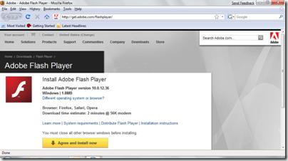 4 Firefox Adobe site